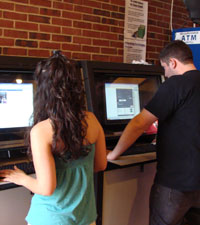 computer kiosks in university center